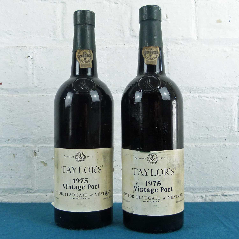 Lot 38 - 2 Bottles Taylors Vintage Port Vintage 1975