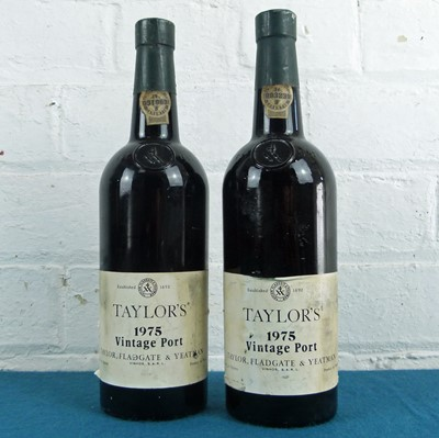 Lot 38 - 2 Bottles Taylors Vintage Port Vintage 1975