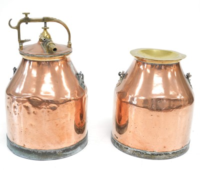Lot Pair of Copper Milking Units