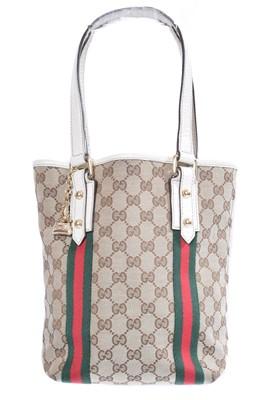 Lot 89 - A Gucci monogram canvas Jolicoeur Tote handbag