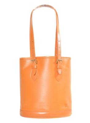 Lot 35 - A Louis Vuitton Epi Bucket Shoulder Bag