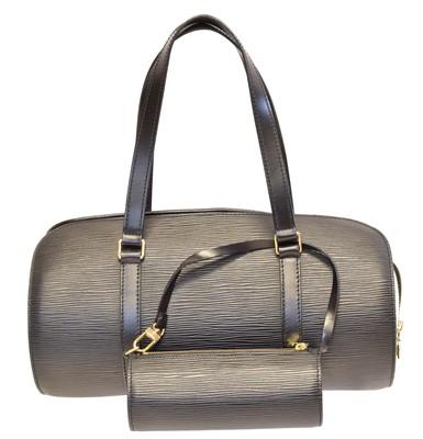Lot 133 - A Louis Vuitton Epi Soufflot handbag and pouch