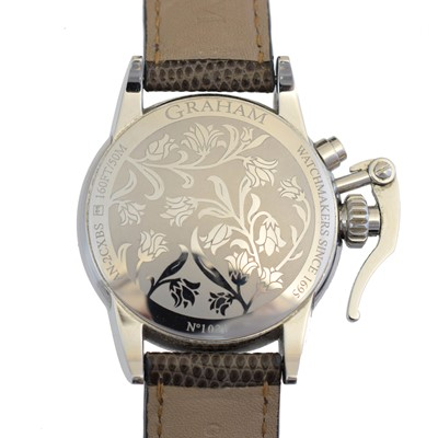Lot A ladies stainless steel Graham Chronofighter 1695 Lady Moon wristwatch