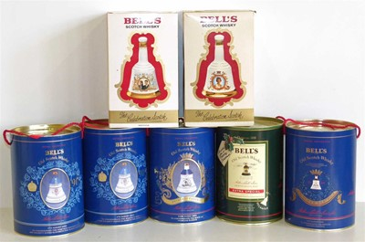 Lot 48 - Seven Bells commemorative boxed 75cl/70ml decanters and whiskey