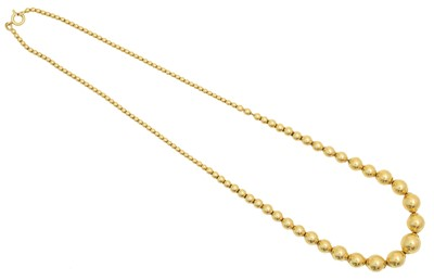 Lot 59 - An 18ct gold necklace by UnoAErre