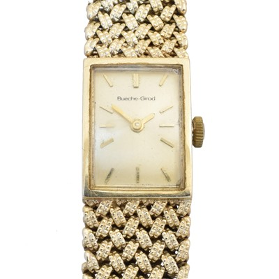 Lot 127 - A 9ct gold ladies Bueche Girod watch