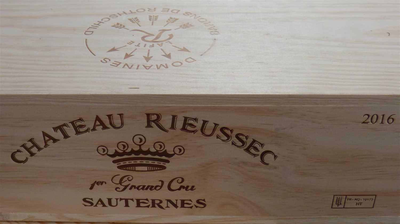 Lot 41 - Bottles Chateau Rieussec Premier Cru Classe Sauternes 2016