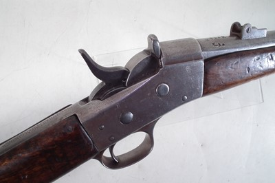 Lot 35 - Remington rolling block rifle  in .43 Egyptian