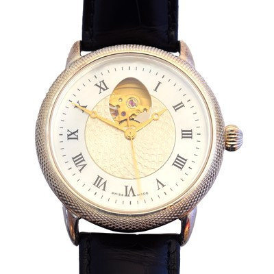 Lot 147 - A rare and limited edition Theo Fabergé St. Petersburg Collection silver watch