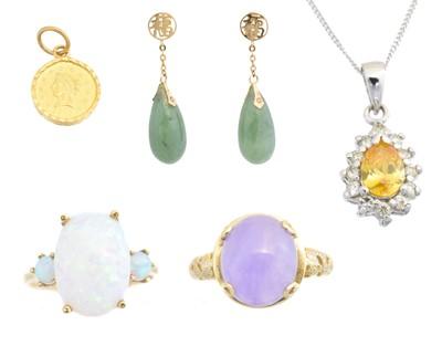 Lot 52 - A selection of gem-set jewellery