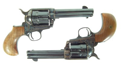 Lot Pair of blank firing 9mm Colt type single action army revolvers