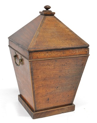 Lot 19th Century Mahogany Coal Bin