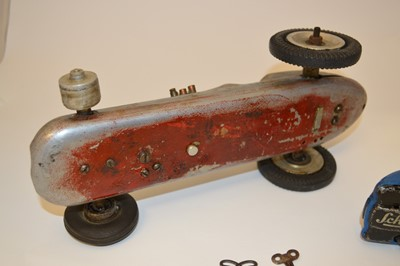 Lot Single seated racing car and Schuco Examico...