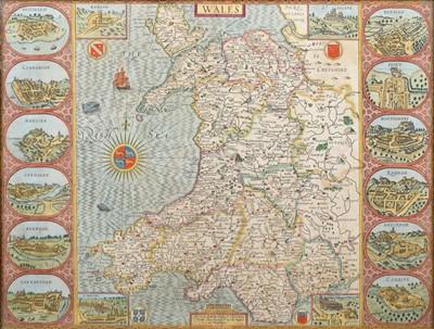 Lot 73 - John Speed, Map of Wales.