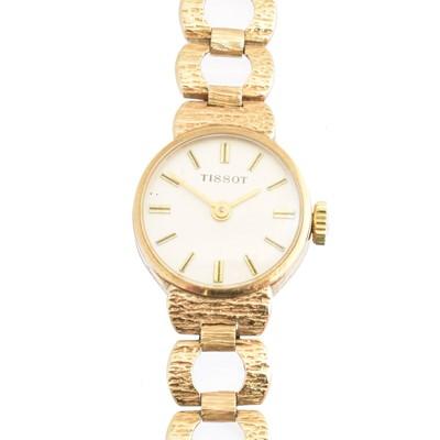 Lot 149 - A 1970s 9ct gold Tissot watch
