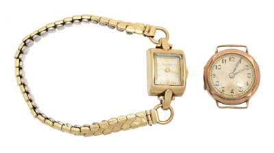 Lot 69 - Two 9ct gold cased watches