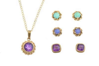 Lot 27 - A selection of gem-set jewellery
