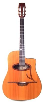 Lot Eko Gypsy Jazz nylon strung guitar
