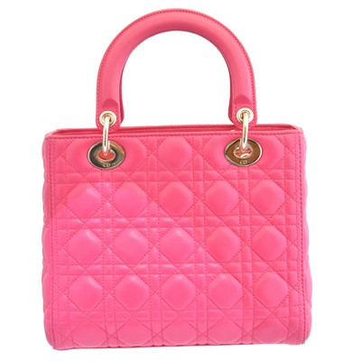 Lot 1 - A Christian Dior Lady Dior MM bag
