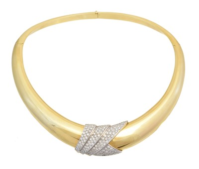 Lot A diamond collar necklace