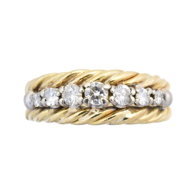 Lot 75 - A diamond band ring