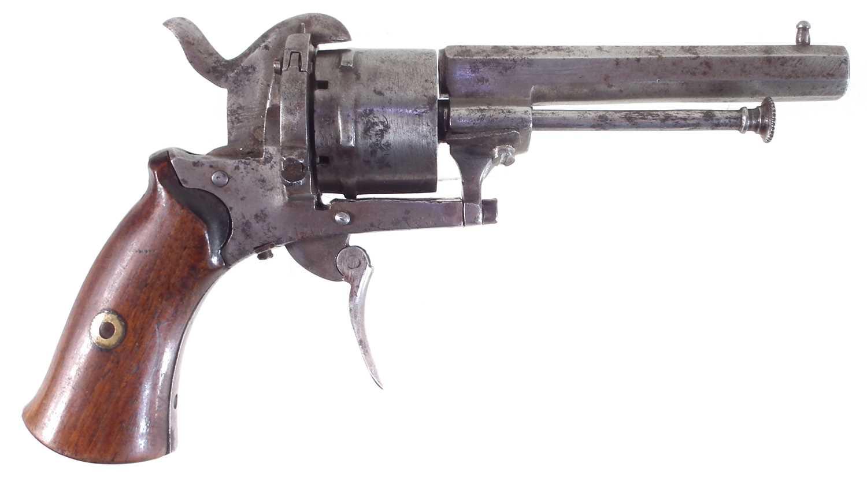 Lot 16 - Belgian 7mm pinfire revolver