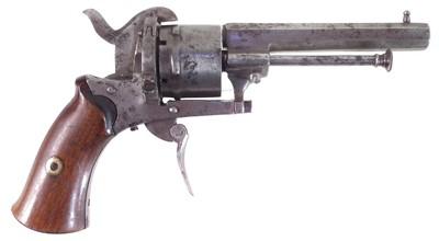 Lot Belgian 7mm pinfire revolver