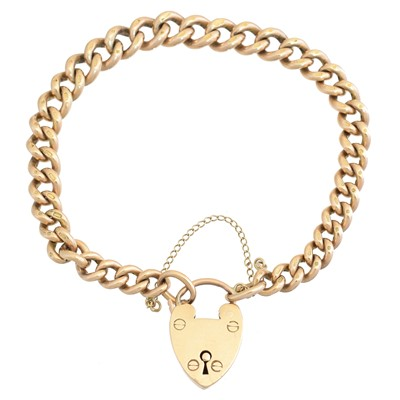 Lot 3 - A 9ct gold bracelet