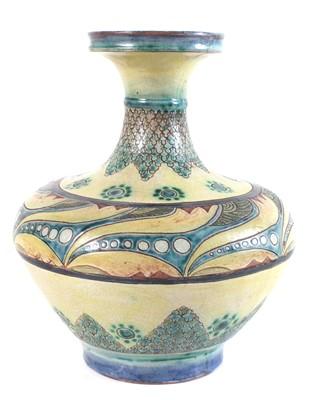 Lot 134 - Della Robbia vase