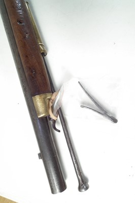 Lot British Pattern 1840 .620 percussion Constabulary carbine and bayonet