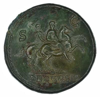 Lot 1 - Nero Æ Sestertius. Lugdunum, circa AD 65.