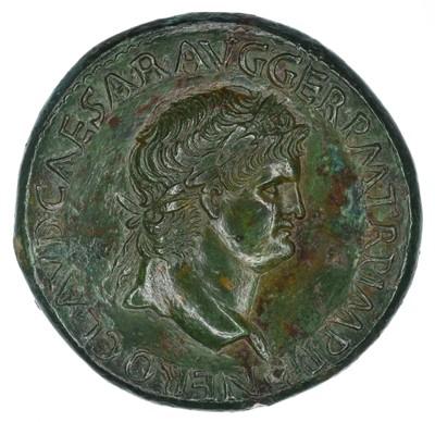 Lot 4 - Nero Æ Sestertius. Lugdunum, circa AD 65.