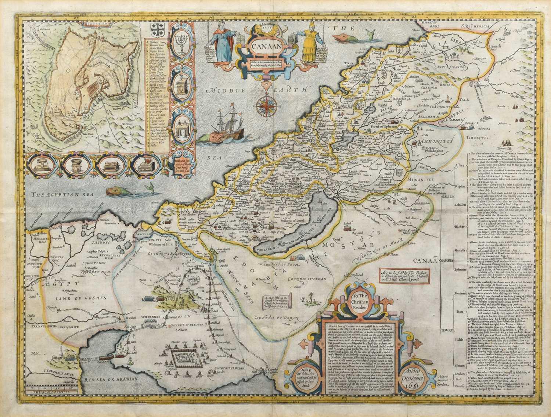 Lot 75 - John Speed, Map of Canaan.