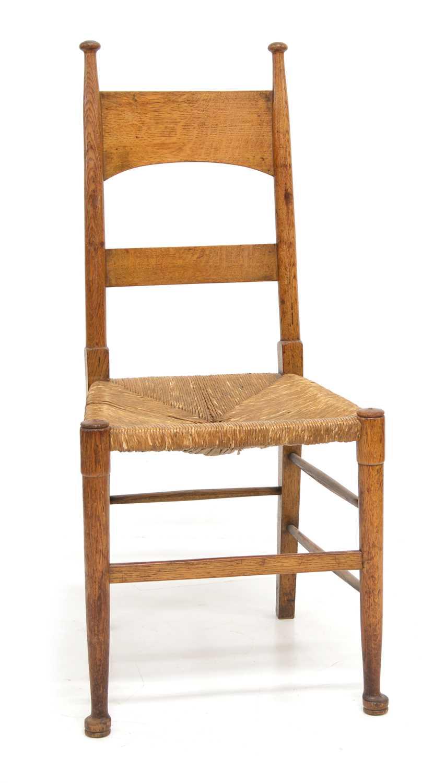 Lot William Birch, High Wycombe, Arts & Crafts design oak side chair