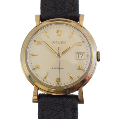 Lot A 1950s 9ct gold cased Rolex Precision wristwatch