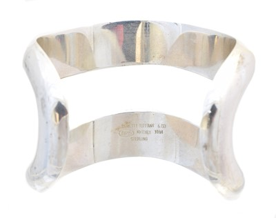Lot A silver cuff bangle by Elsa Peretti for Tiffany & Co.