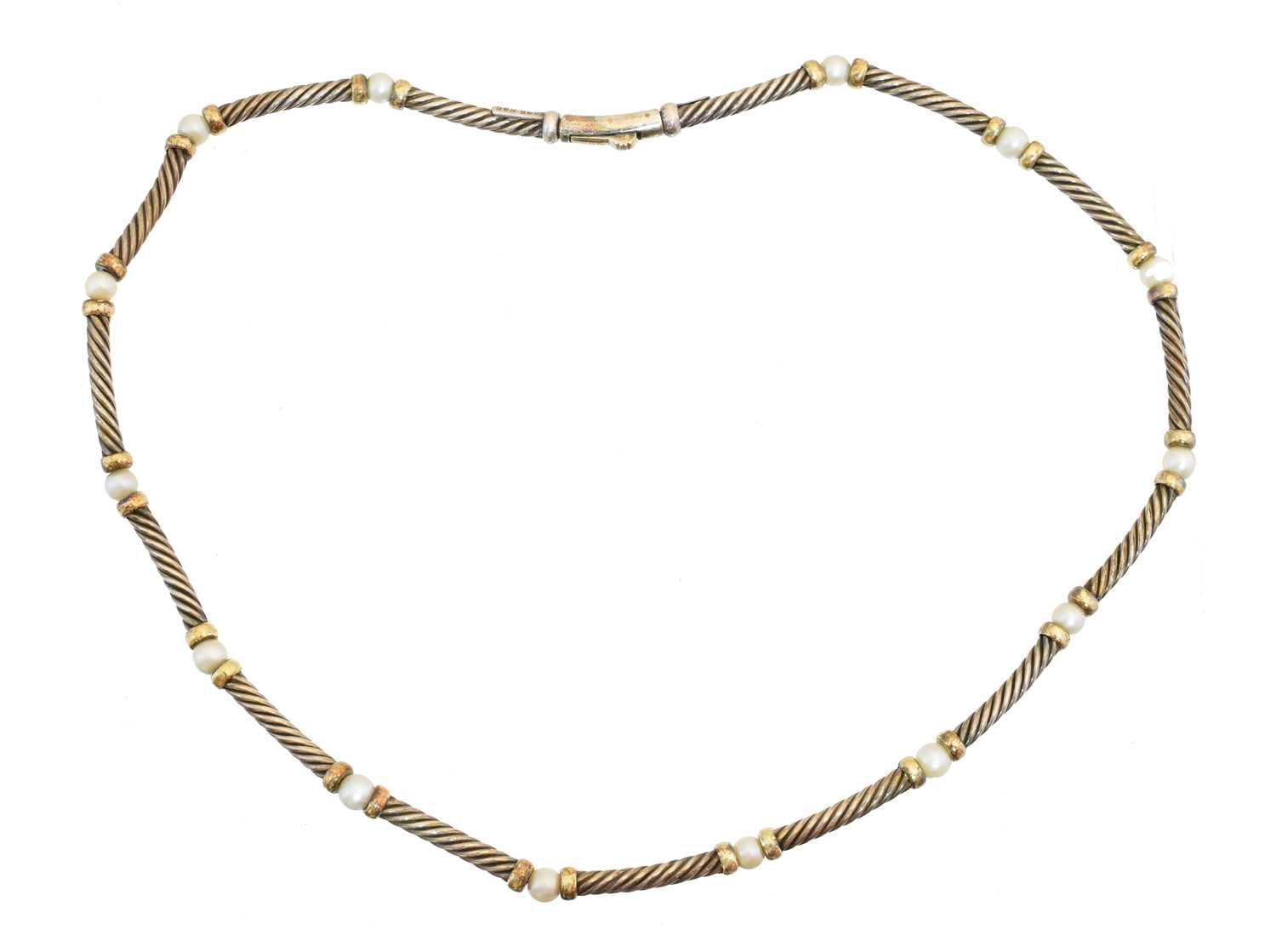 Lot A cultured pearl necklace by David Yurman