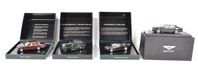 Lot 46 - Four 1:43 Scale Bentley model cars