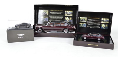 Lot 55 - Three Minichamps Bentley model cars
