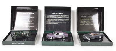 Lot 54 - Three Minichamps 1:43 Scale Bentleys