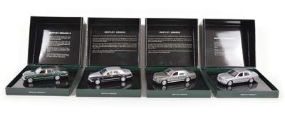 Lot 48 - Four Minichamps 1:43 Scale Bentleys