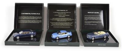 Lot 52 - Three Minichamps 1:43 Scale Bentleys