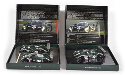 Lot 58 - Two Minichamps 1:43 Scale Bentleys