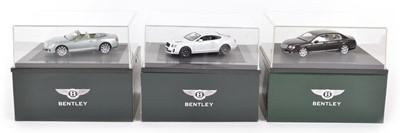 Lot 50 - Three Minichamps 1:43 Scale Bentley Continental Models
