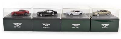 Lot 47 - Four Minichamps 1:43 Scale Bentley Models