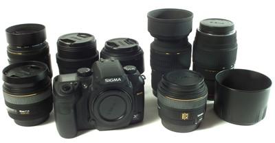 Lot Sigma camera and lenses