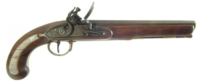 Lot Flintlock holster pistol by Probin