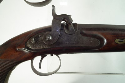 Lot Pair of Percussion officer's or target pistols by Baldwin.