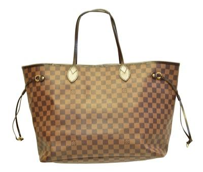 Lot 32 - A Louis Vuitton Damier Ebène Neverfull MM handbag
