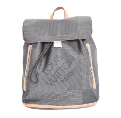 Lot 84 - A Louis Vuitton Terre Damier Geant Backpack Bag